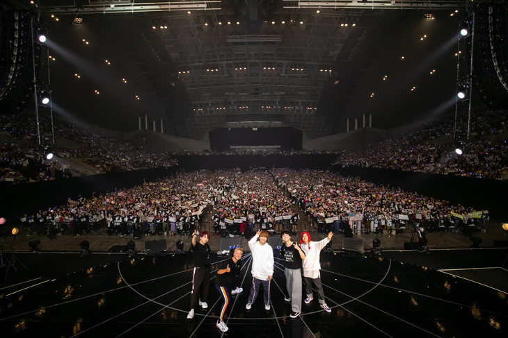 「Da-iCE 5th Anniversary Tour - BET -」千葉・幕張イベントホール公演の様子。