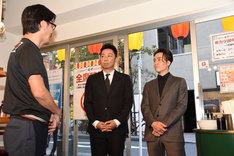 東京・串カツ田中 赤坂店を訪れたEXILE USAとEXILE TETSUYA。