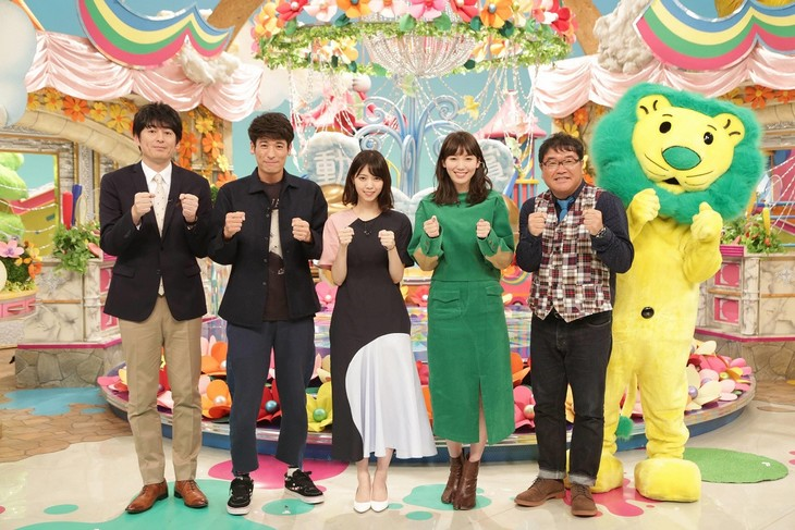 「『ライオンのグータッチ』グータッチ動画大賞2018秋」出演者。(c)フジテレビ