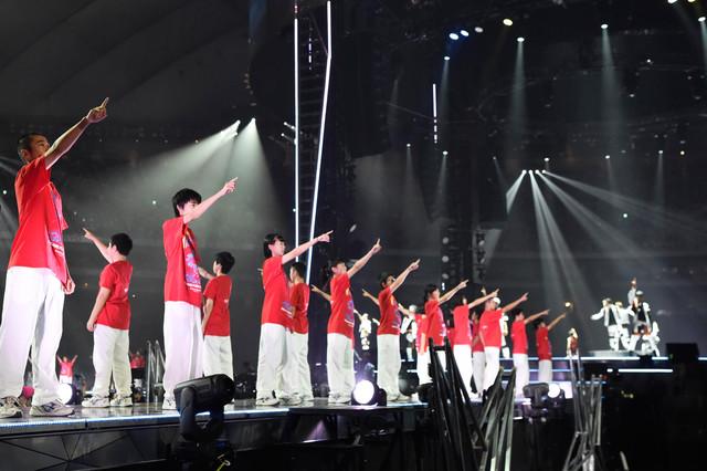 釜石東中学校の生徒たち。