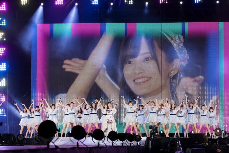 「SAYAKA SONIC ~さやか、ささやか、さよなら、さやか~」の様子。 (c)NMB48
