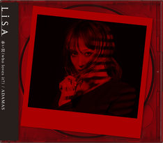 LiSA「赤い罠(who loves it?)/ ADAMAS」初回限定盤ジャケット