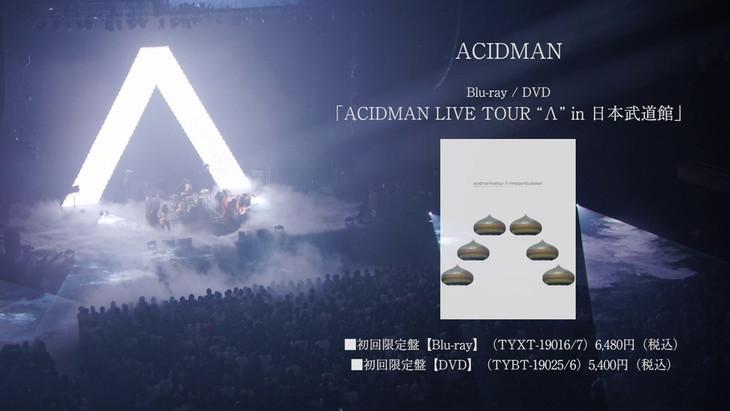 "ACIDMAN「ACIDMAN LIVE TOUR ""Λ""in 日本武道館」ティザー映像のワンシーン。"