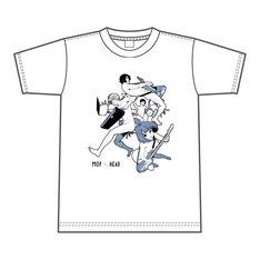 「師走の翁 × MOP of HEADコラボイラストTシャツ」デザイン