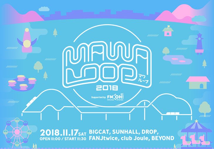 「MAWA LOOP2018 supported by FM OH!」ロゴ