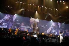 スキマスイッチ「SUKIMASWITCH 15th Anniversary Special at YOKOHAMA ARENA ~Reversible~」神奈川・横浜アリーナ公演の様子。