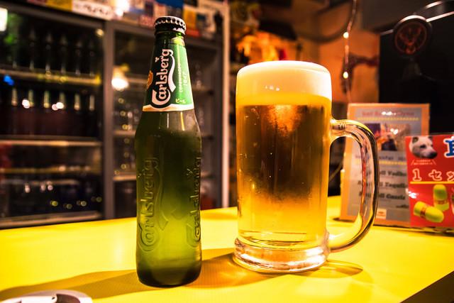 LIVE HOUSE Pangeaで提供されているビール。