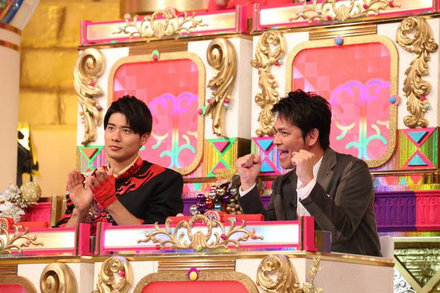 バラエティ軍の辻本達規(BOYS AND MEN)と岡田圭右(ますだおかだ)。