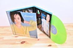 原田知世「Clover」アナログ盤ジャケットと盤面。