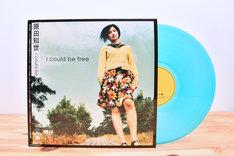原田知世「I Could Be Free」アナログ盤ジャケットと盤面。