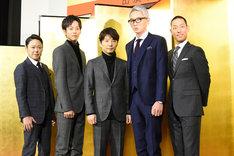 「いだてん ~東京オリムピック噺(ばなし)~」追加出演者発表記者会見の様子。