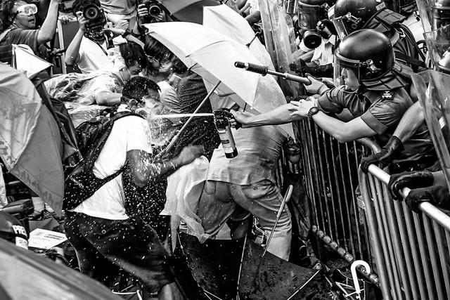 2014年、香港で撮影した学生運動の様子。(写真提供:Viola Kam)