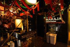 東京・MAHARAJA ROPPONGIの入り口。