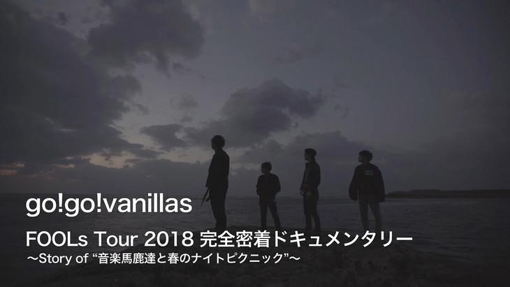 "「FOOLs Tour 2018 完全密着ドキュメンタリー ~Story of ""音楽馬鹿達と春のナイトピクニック""~」告知画像"