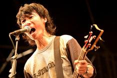 難波章浩(Vo, B / Hi-STANDARD)(Photo by Yasumasa Handa[Showcase])