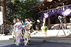 左から武部柚那、石井杏奈。