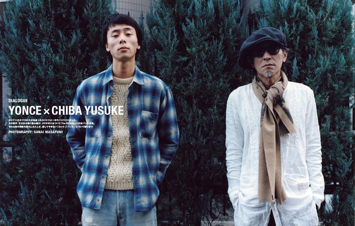 左からYONCE(Suchmos)、チバユウスケ(The Birthday)。