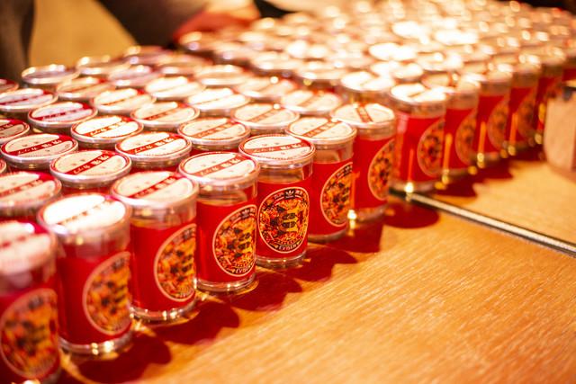 パーティで振舞われた日本酒。