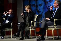 「ハリウッド映画『トリプルX4』音楽監督就任記者会見」の様子。