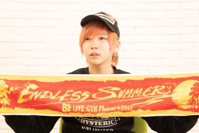 「B'z LIVE-GYM Pleasure 2013 -ENDLESS SUMMER-」で購入したマフラータオル。