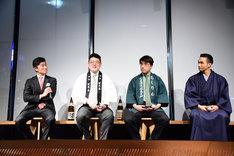 「未来の日本酒プロジェクト事業発表会」の様子。