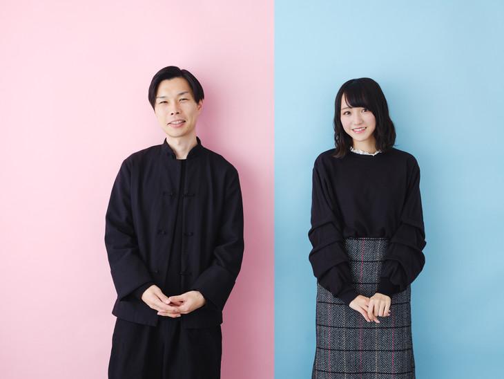 左から岩井勇気(ハライチ)、野口衣織(=LOVE)。