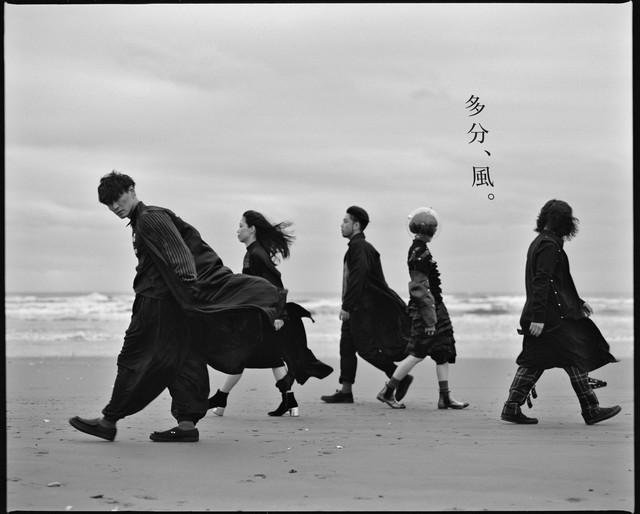 サカナクション「多分、風。」ではアーティスト写真とMVの撮影を担当。モノクロフィルムを使用した。(写真提供:内田将二)