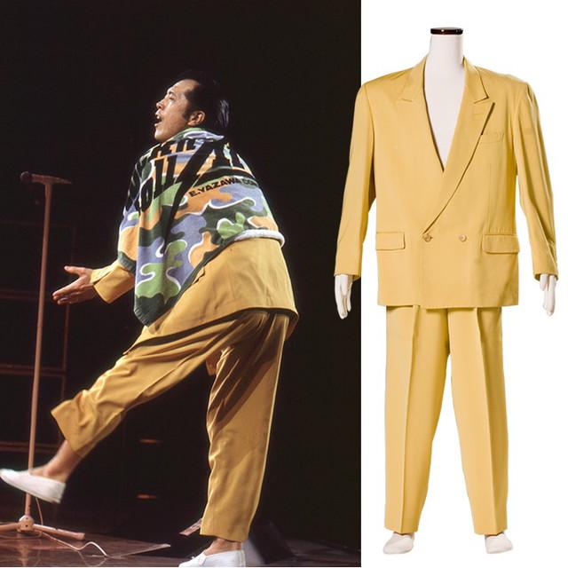 「俺 矢沢永吉」に展示予定の衣装。