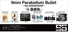 9mm Parabellum Bullet「~15th Anniversary~『6番勝負』」告知ビジュアル