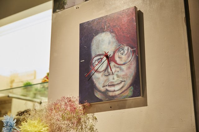 大野智の作品展「FREESTYLE II」公式グッズであるキャンバスアート時計。