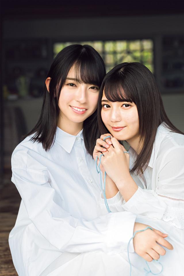 「週刊少年マガジン」16号に掲載される金村美玖、小坂菜緒の写真。