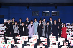 映画「PRINCE OF LEGEND」初日舞台挨拶の様子。