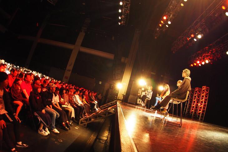 SCANDAL「SCANDAL New Single『マスターピース / まばたき』リリース記念 爆音試聴会 at 川崎CLUB CITTA'」の様子。