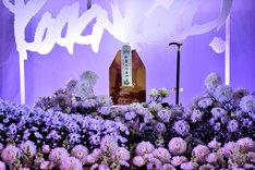 祭壇には内田裕也が晩年手にしていた杖も飾られていた。