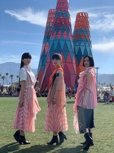 「Coachella Valley Music and Arts Festival」会場でのPerfume。(写真提供:ユニバーサルミュージック)
