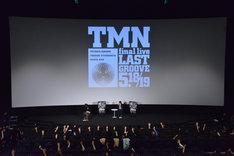 「TMN final live LAST GROOVE 1994」プレミア上映会の様子。