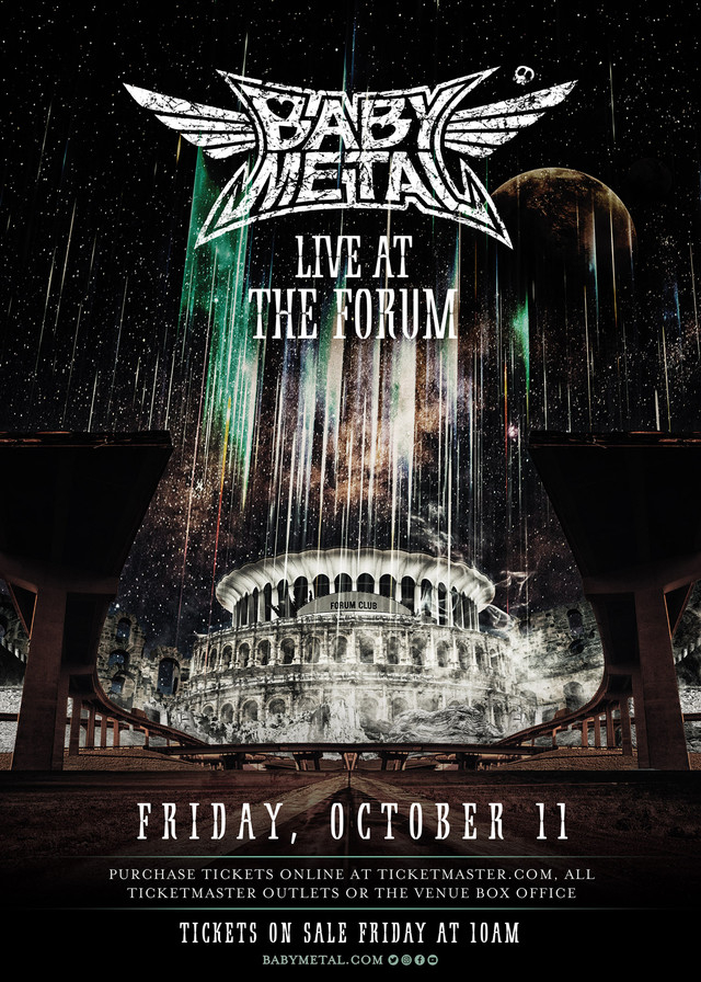 「BABYMETAL LIVE AT THE FORUM」ビジュアル