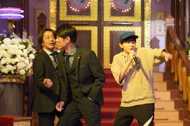 左から堀内健、原田泰造、SASUKE。(c)日本テレビ
