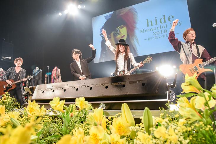 左から木村世治(ZEPPET STORE)、TAKA(defspiral)、PATA(X JAPAN、Ra:IN)、CUTT(SPEED OF LIGHTS)。