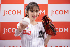初のピッチングを終えた鈴木愛理投手。