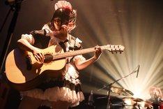 小鳩ミク(G, Vo)(撮影:MASANORI FUJIKAWA)