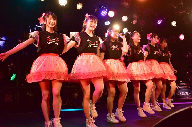 「ときめき▽宣伝部 春のライブハウスロックオンツアー2019」東京・渋谷CLUB QUATTRO公演の様子。