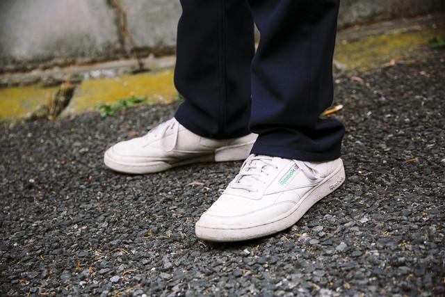島田翼のスニーカー。