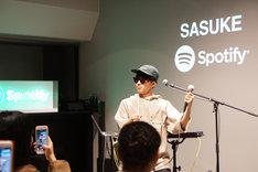 「SASUKE Special Showcase」の様子。(写真提供:スポティファイジャパン)