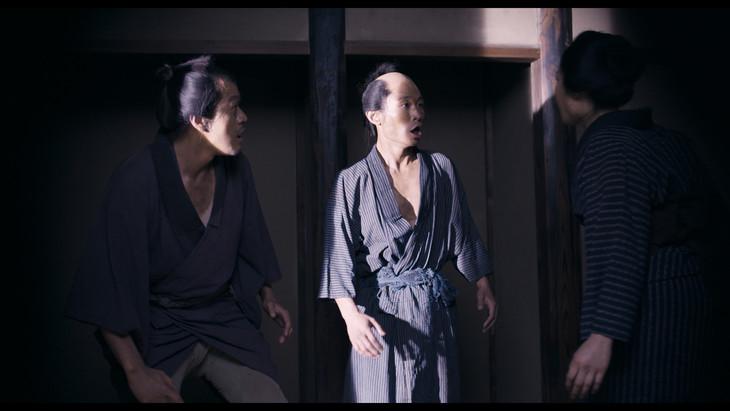 映画「二宮金次郎」のカミナリ出演シーン。