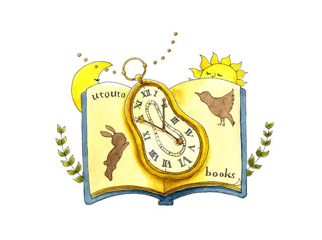 タイムトラベル専門書店「utouto」ロゴ