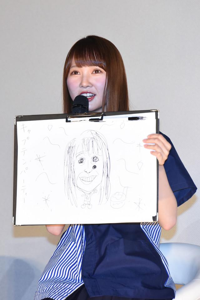 「キャプテンパーティ」を描いた加藤史帆。