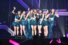 「ハロプロ プレミアム Juice=Juice CONCERT TOUR 2019 ~JuiceFull!!!!!!!~ FINAL 宮崎由加卒業スペシャル」の様子。