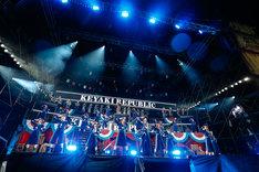 欅坂46「欅共和国2019」の様子。(撮影:上山陽介)