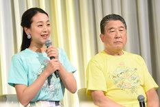 左から浅田真央、徳光和夫。